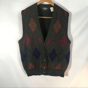 Italian Sweater Company Sweaters - The Italian Sweater Co. Wool Blend Sweater Vest